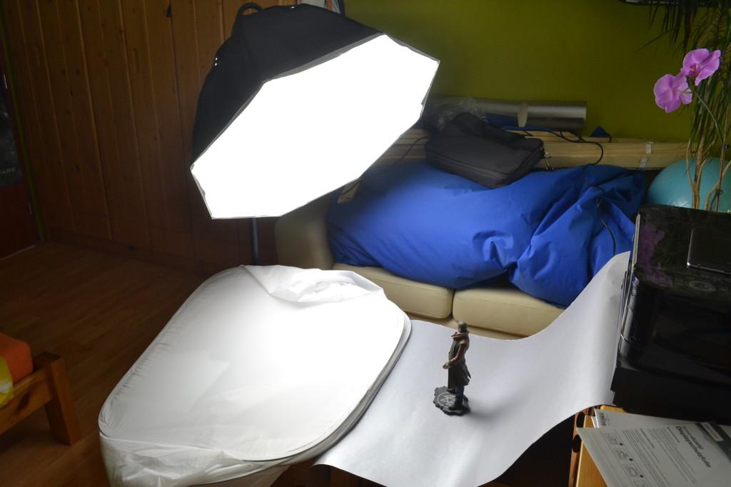 Trvalé studiové světlo.